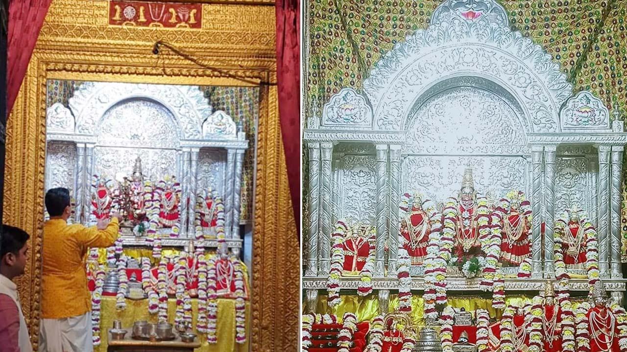 जानिए यूपी के किस मंदिर में भगवान लक्ष्मी नारायण को अर्पित किया चांदी का सबसे बड़ा सिंहासन, 40 किलो चांदी हुई इस्तेमाल