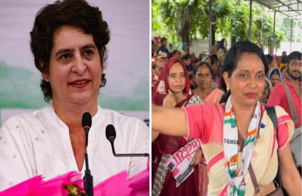 प्रियंका के ऐलान के बाद ढोल, नगाड़ों के साथ महिलाओं ने मनाई खुशियां, बोली- इस फैसले से राज्य और केंद्र में कांग्रेस का लहराएंगे परचम