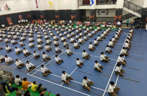 राष्ट्रीय स्वयंसेवक संघ के प्राथमिक शिक्षा वर्ग का समापन, स्वयंसेवकों ने दिखाई डंडा चलाने का अद्भुत कला